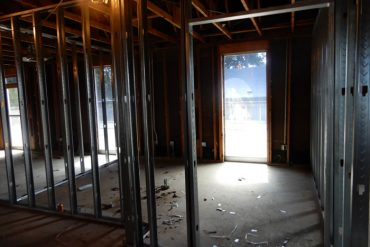 Framing Walls For Financial Aid Office
