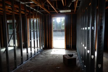 Framing Walls For Dryer Area